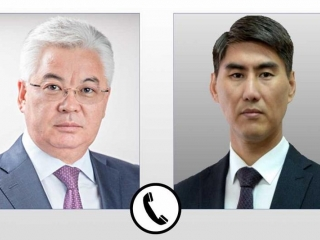 Foreign ministers of Kazakhstan, Kyrgyzstan had telephone conversation