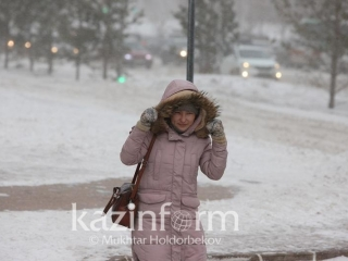 Ice slick and snowstorm to sweep through W Kazakhstan