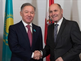 Kazakh Majilis Speaker, Austrian National Council President meet