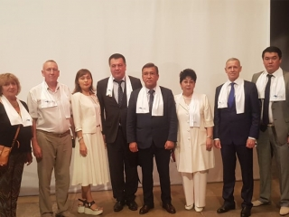 Representatives of Yespayeva's election campaign team meet with voters in W Kazakhstan