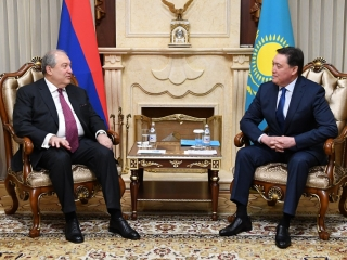 Kazakh PM, Armenian President met to discuss economic coop prospects