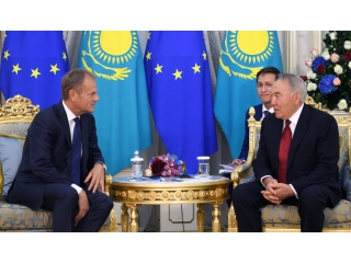 Nursultan Nazarbayev meets with Donald Tusk
