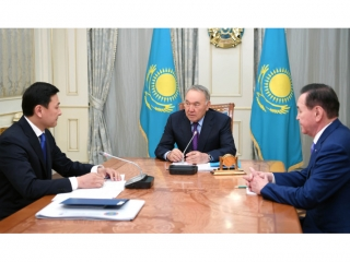 Nursultan Nazarbayev receives mayor of Kazakh capital