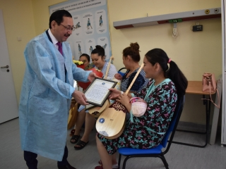 Newborns were presented dombra in capital city of Kazakhstan